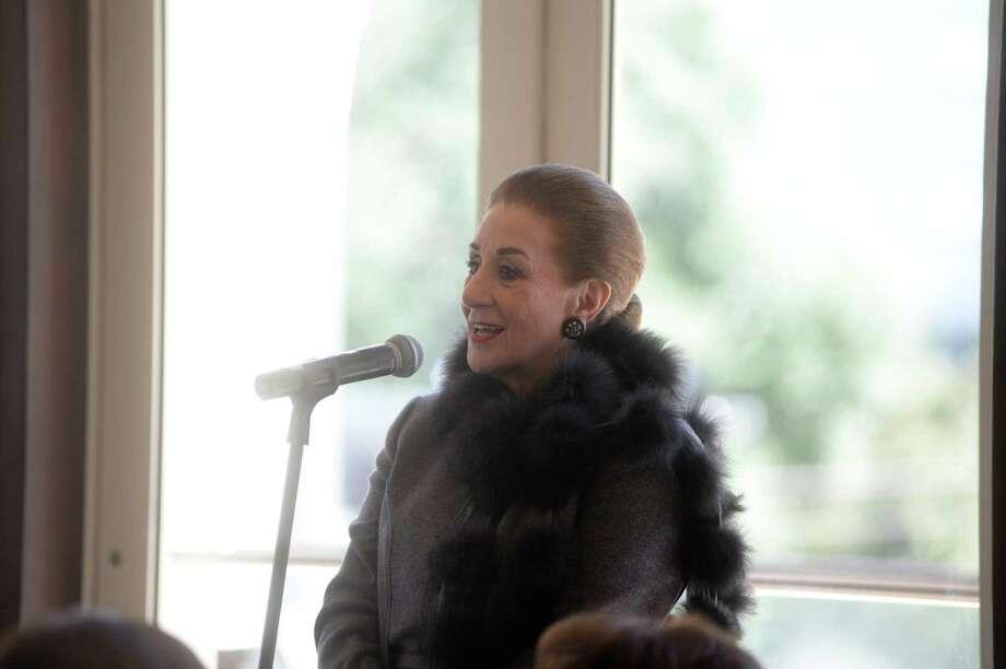 Martha Turner spoke at the Dec My Room luncheon on Oct. 15. / DANIEL ORTIZ PHOTOGRAPHY