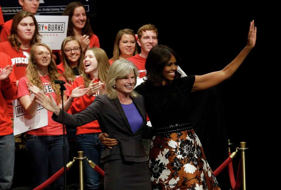 Are the Democrats at risk of losing the youth vote? First lady Michelle Obama and Wisconsin Democratic gubernatorial candidate Mary Burke rallied young voters in early October. Photo: Morry Gash / Associated Press / AP