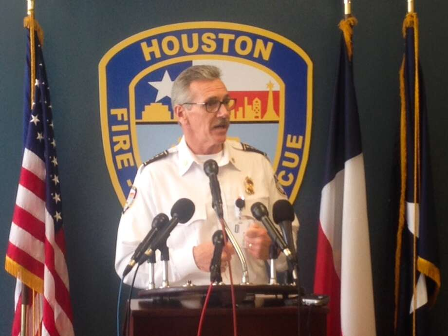 Chief of the Houston Fire Department Terry A. Garrison discusses a newly released report on the deadly Southwest Inn blaze that killed four fire fighters in 2013. Photo: Cody Duty / Houston Chronicle