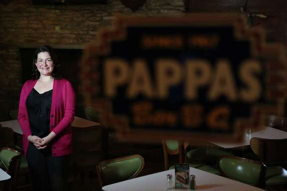 Mary Pappas is photographed at Pappas Barbecue Restaurant on Friday, Oct. 10, 2014, in Houston. ( Mayra Beltran / Houston Chronicle )