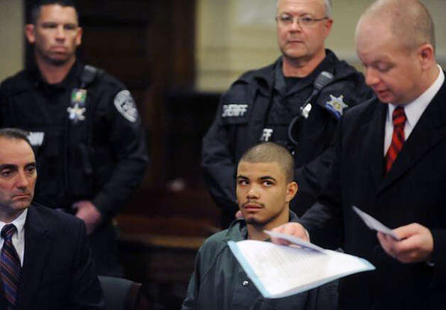 Gabriel Vega is Denied bail by Judge Ceresia at Rensselaer County Court Friday Oct. 31, 2014, in Troy, N.Y. He was charged with the murder of Vanessa Milligan. (Michael P. Farrell/Times Union)