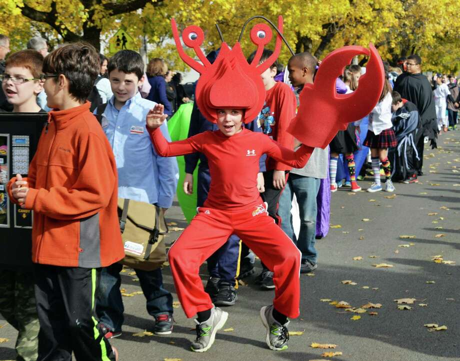 Fourth grader Michael McLain as a lobster during the annual Division Street Elementary School Halloween parade Friday Oct. 31, 2014, in Saratoga Springs, NY.  (John Carl D'Annibale / Times Union) Photo: John Carl D'Annibale / 00029297A