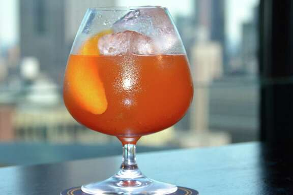 Peter, Peter Pumpkin Eater is a fall cocktail made with Laird's Bonded Apple Brandy