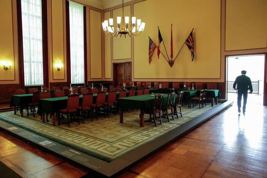 The hall in Berlin's German-Russian Museum is where German commanders signed the unconditional surrender at the end of WWII. Photo: Markus Schreiber, STF / AP