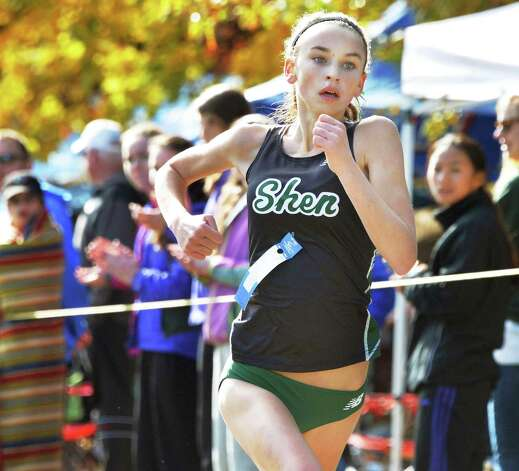 Shen's Daniella Jordan finishes first in the girl's Class A Section II Cross Country Championships at Saratoga Spa State Park Friday Oct. 31, 2014, in Saratoga Springs, NY.  (John Carl D'Annibale / Times Union) Photo: John Carl D'Annibale / 00029251A