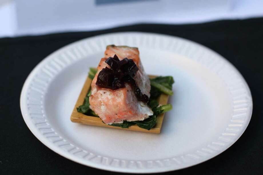 Salmon with Roasted Beet Sauce and Wilted Greens will be on the menu at Sparrow Bar & Cookshop during November, which is National Diabetes Awareness Month. Photo: Courtesy Photo / ONLINE_YES