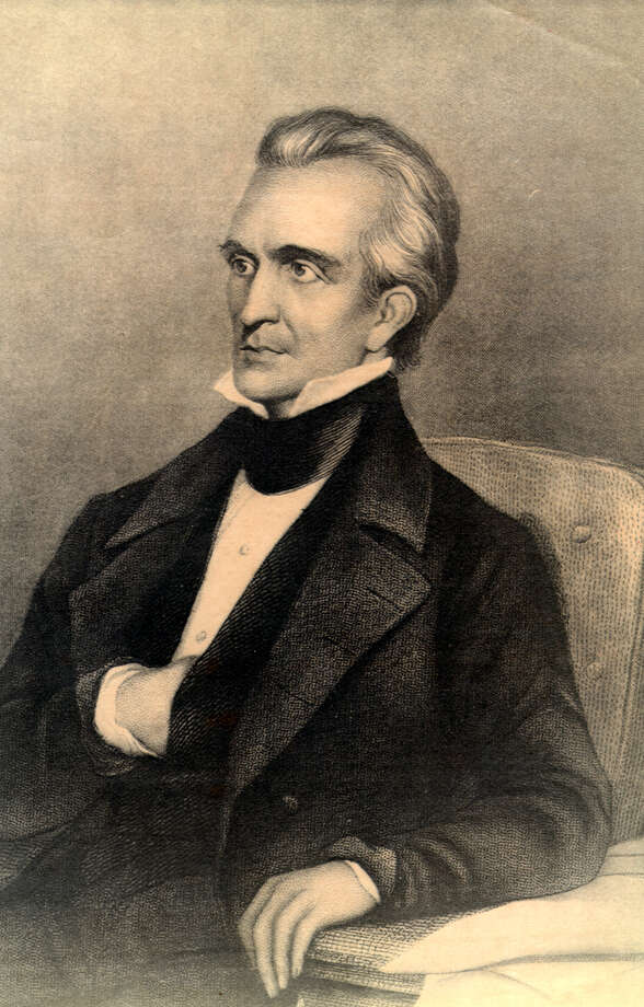Responsible for making Manifest Destiny come true, Democrat James K. Polk (shown in this drawing from the University of Texas at Arlington Library) ran for president on a platform that included annexing Texas. He won and Texas joined the United States. The Mexican-American War followed. Polk, the 11th U.S. President, died on June 15, 1849, in Nashville, Tennessee. Photo: ASSOCIATED PRESS / EXPRESS-NEWS FILE PHOTO