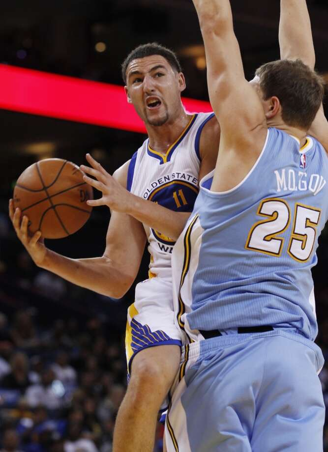 Guard Klay Thompson will be under contract with the Warriors through the 2018-19 season. Photo: George Nikitin / Associated Press / FR57659 AP