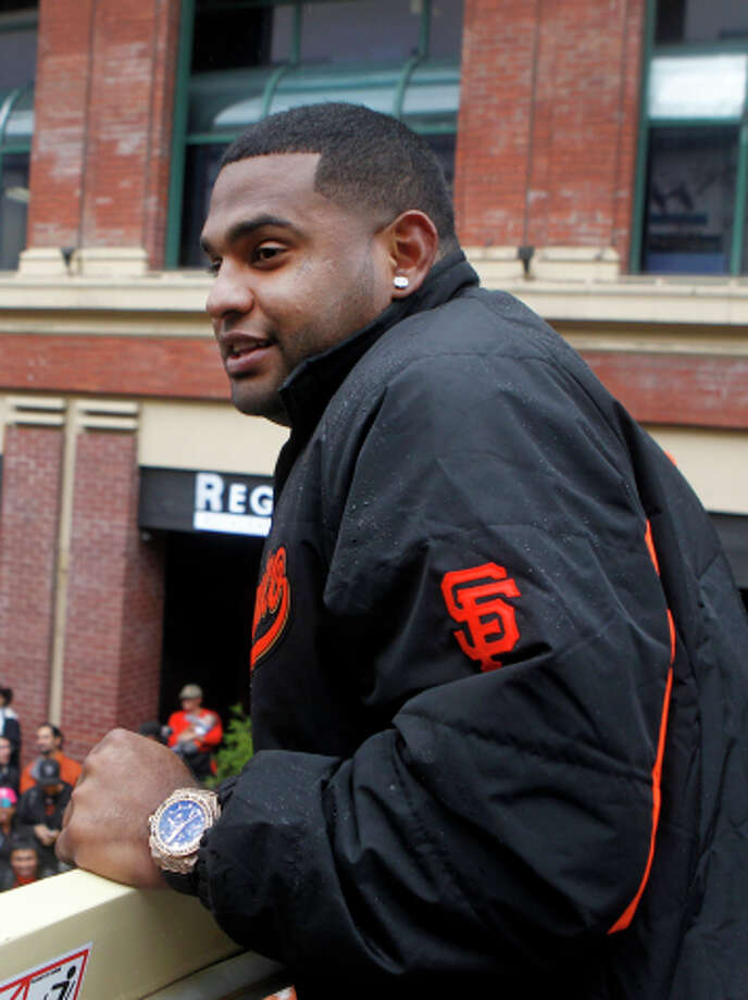 The recent victory parade must be fresh in Pablo Sandoval's mind. Photo: Paul Chinn / The Chronicle / ONLINE_YES