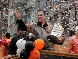 Manager Bruce Bochy and the Giants, atop baseball's pinnacle three times in five years, top the 2014 parade of memories.