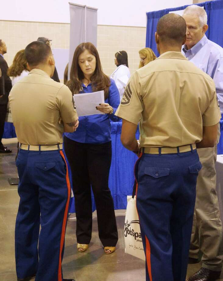 The 2013 event drew interested veteran job applicants from around the area.