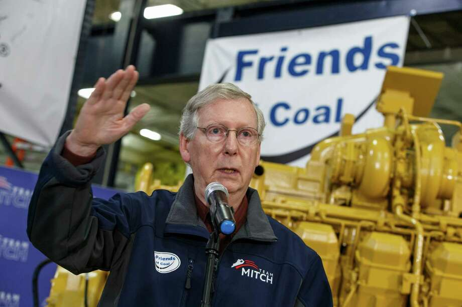 Senate Minority Leader Mitch McConnell., a 30-year Republican incumbent, hopes to win a combative contest that could shift Congress' balance of power. Photo: J. Scott Applewhite, STF / AP