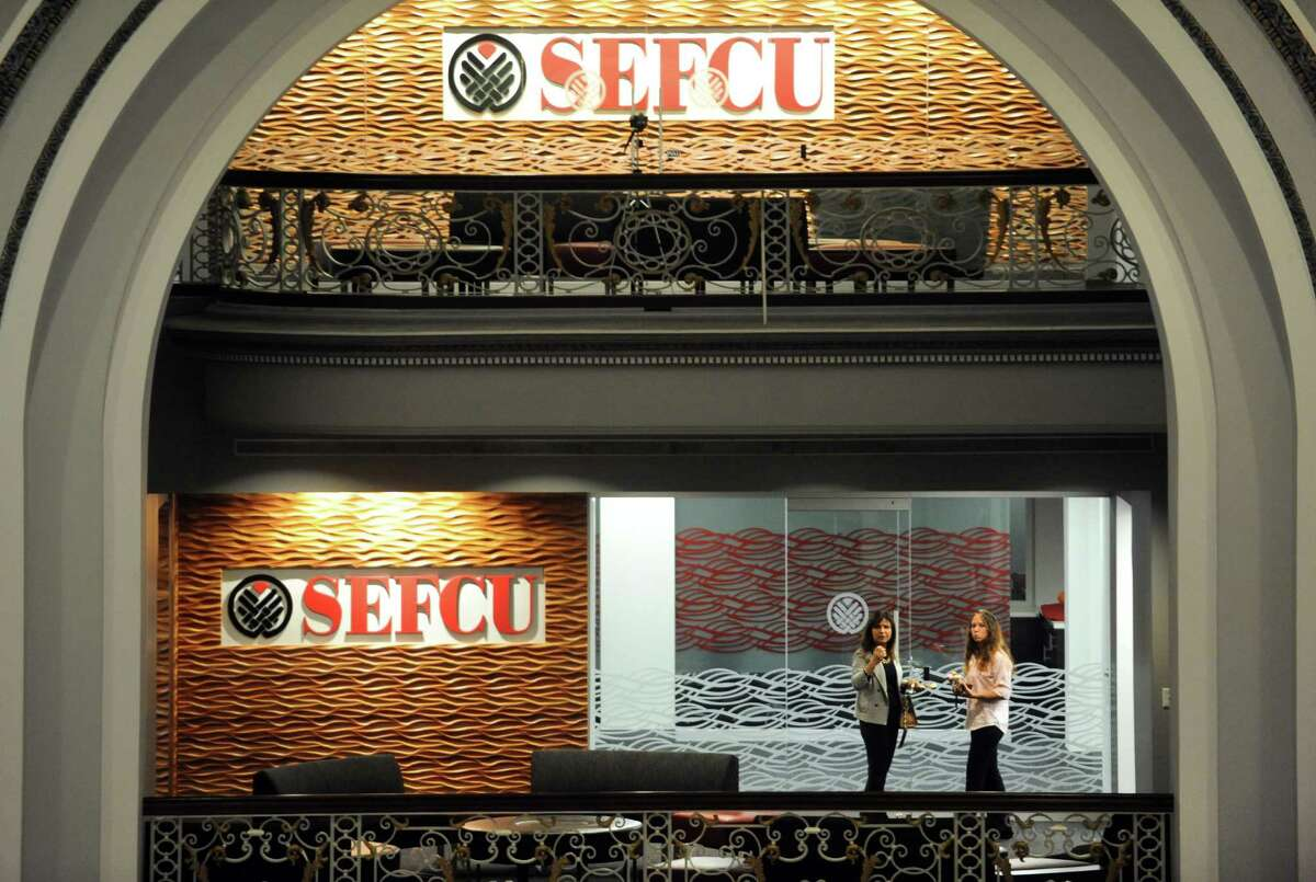 SEFCU celebrates the move of their headquarters to Kiernan Plaza on Thursday Oct. 30, 2014 in Albany, N.Y. (Michael P. Farrell/Times Union)