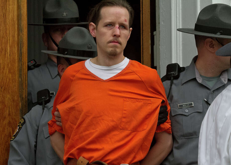 Eric Frein is charged with the murder of Pennsylvania State Trooper Cpl. Byron Dickson and critically wounding Trooper Alex Douglass on Sept. 10. Photo: Michael J. Mullen, MBO / The Scranton Times-Tribune