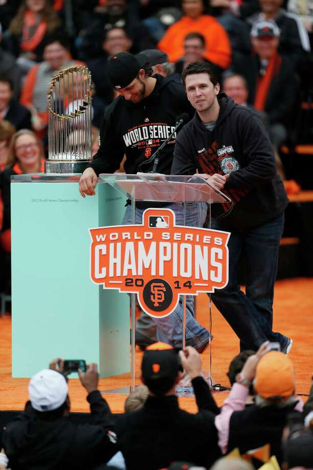 Giants catcher Buster Posey will play Pebble Beach for the first time. Photo: Beck Diefenbach / Special To The Chronicle / ONLINE_YES