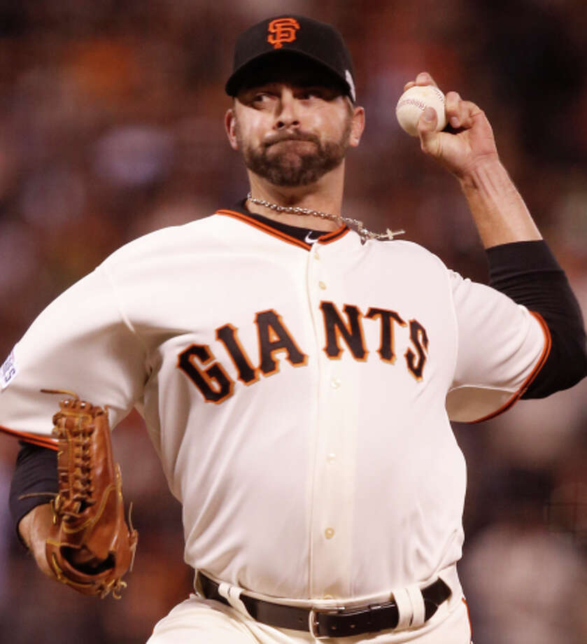 Jeremy Affeldt closes in on his third World Series ring. Photo: Michael Macor / The Chronicle / ONLINE_YES