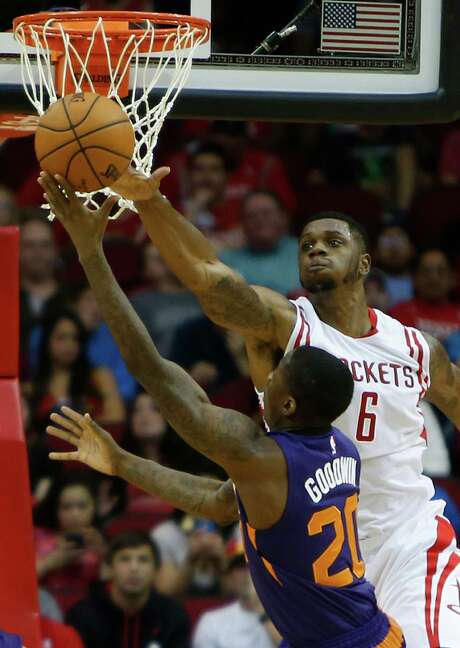 Power forward Terrence Jones, right, is trying to be a force in all aspects for the Rockets this season. Photo: Brett Coomer, Staff / © 2014 Houston Chronicle