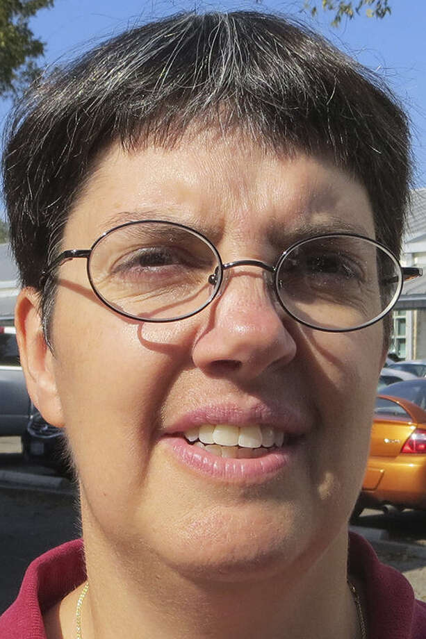 Write-in candidate Rene Brimmage wants voters to know her opponent's name shouldn't be on the ballot.