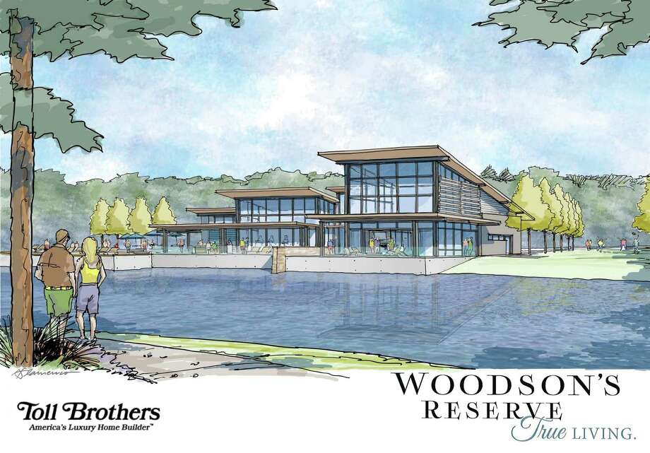 This rendering shows a planned community center in Woodson's Reserve, a residential community to be developed in southern Montgomery County. Photo: Courtesy Of Toll Brothers