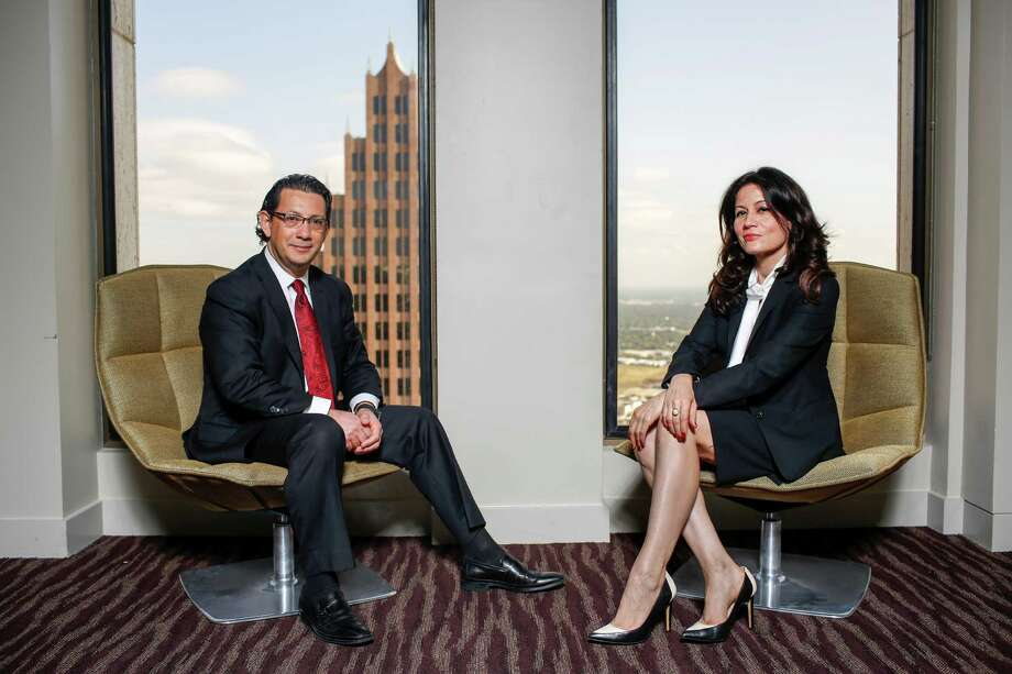 """Thomas Lacombe and Flor Dimassi lead Global Speak Translations. """"We're on a mission to help these companies do business in Mexico,"""" Lacombe says.  Photo: Eric Kayne / Eric Kayne"""
