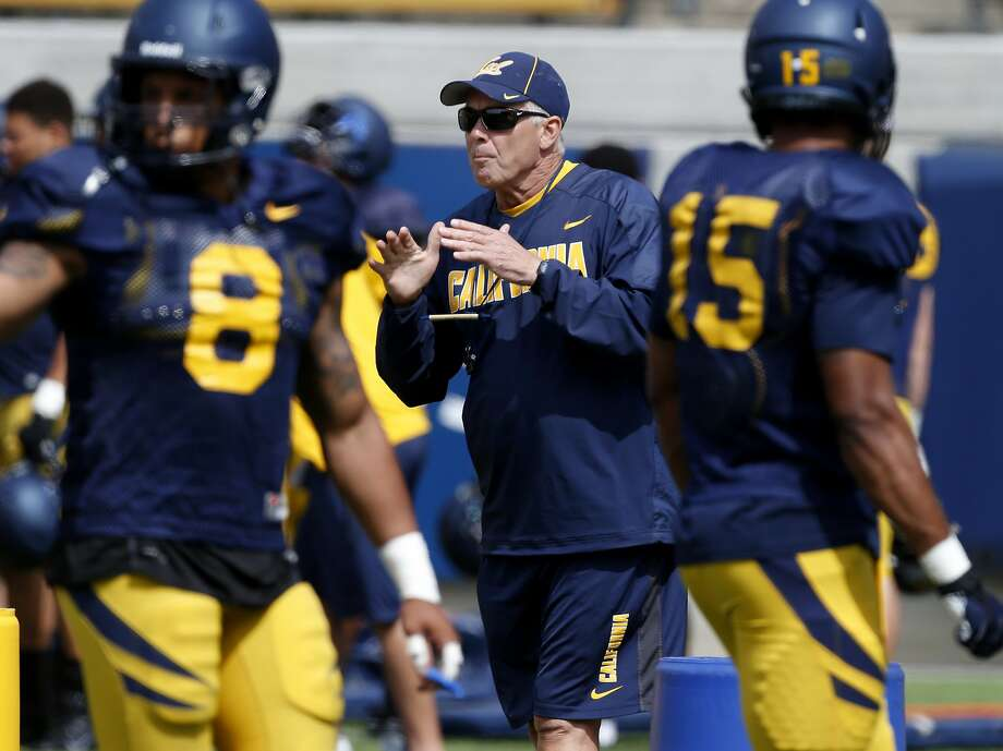 New defensive coordinator, Art Kaufman worked with his defense at a recent practice Tuesday August 12, 2014. The Cal football program is in training camp mode at Memorial Stadium as they prepare for the upcoming season. Photo: Brant Ward, San Francisco Chronicle