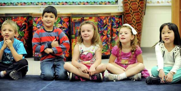ESL kindergartners in music class on Tuesday, Sept. 30, 2014, at Shaker Elementary School in Loudonville, N.Y. (Cindy Schultz / Times Union) Photo: Cindy Schultz / 10028785A