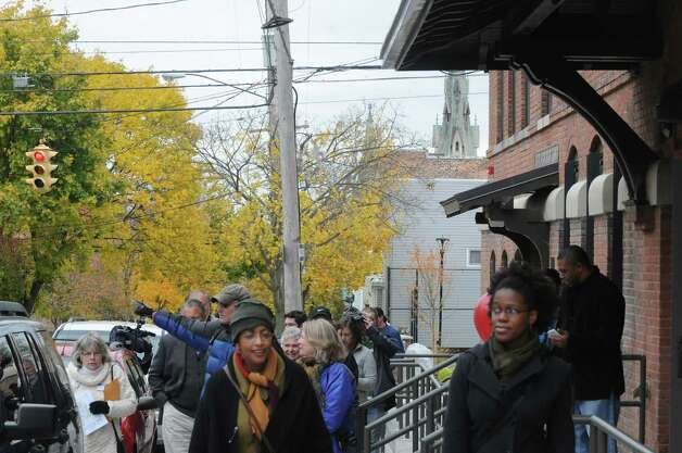 The City and the Arbor Hill Development Corporation hosted a free walking tour showcasing some of the positive new developments in Arbor Hill on Saturday Nov. 1, 2014 in Albany, N.Y. (Michael P. Farrell/Times Union) Photo: Michael P. Farrell / 00029300A