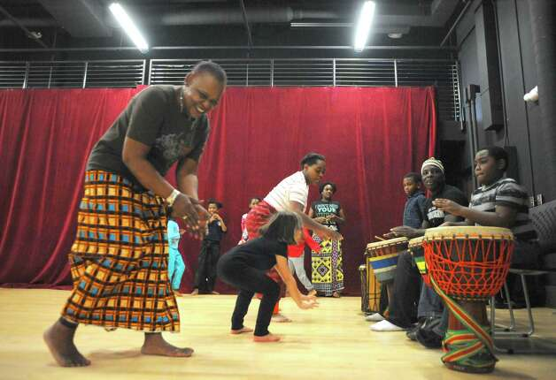 Children take part in an African dance class taught by members of AhSoEgo Productions and The Barn on Saturday Nov. 1, 2014 in Albany, N.Y. (Michael P. Farrell/Times Union) Photo: Michael P. Farrell / 00029300A