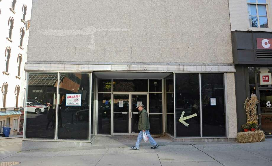 27 is one of many vacant storefronts along North Pearl St. on Friday, Oct. 31, 2014 in Albany, N.Y.  (Lori Van Buren / Times Union) Photo: Lori Van Buren / 00029277A