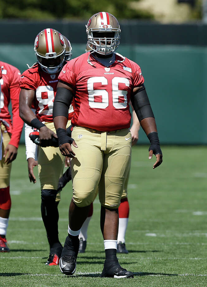 In this file image, San Francisco 49ers center Marcus Martin (66) walks on the practice field during NFL football mini-camp in Santa Clara, Calif., Tuesday, June 17, 2014. Photo: Jeff Chiu / AP / ONLINE_YES