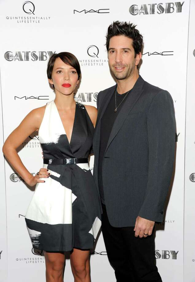 """Actor David Schwimmer and wife Zoe Buckman attend a special screening of """"The Great Gatsby"""" hosted by Quintessentially Lifestyle at The Museum of Modern Art on Sunday, May 5, 2013 in New York. (Photo by Evan Agostini/Invision/AP) Photo: Evan Agostini / Invision"""