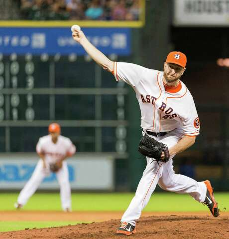 At $30 million for three years, starter Scott Feldman, 31, is the most expensive Astro. Feldman was 8-12 with a 3.74 ERA in 1801⁄3 innings in 2014. Photo: Smiley N. Pool / © 2014  Smiley N. Pool