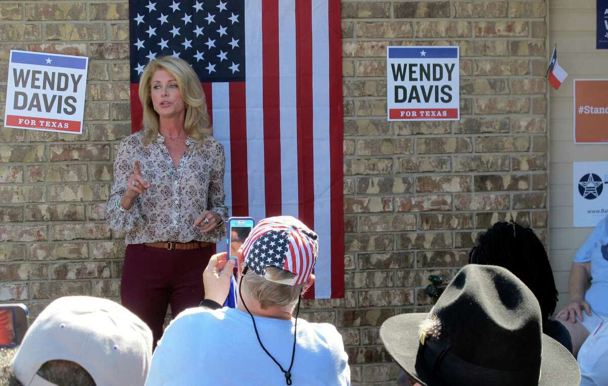 Texas Democratic gubernatorial nominee Wendy Davis greets supporters before a block-walking session on Saturday, Oct. 25, 2014, in Killeen, Texas. A state senator from Fort Worth, Davis is a decided underdog in a fiercely conservative state, but even if she losses, the election may have more name-recognition and future appeal than many other unsuccessful candidates elsewhere in the country. (AP Photo/Will Weissert)