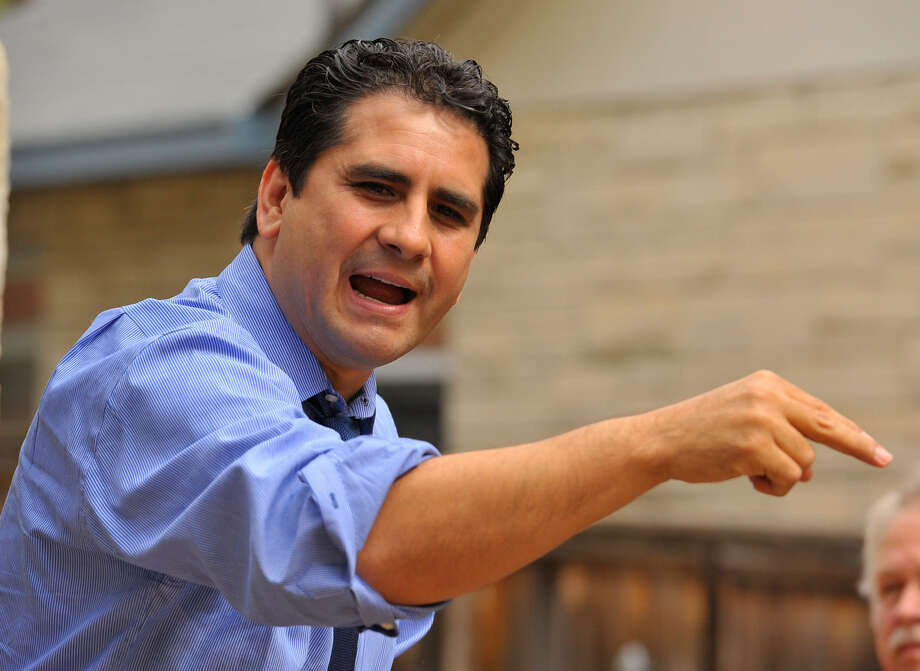 "Bexar County Democratic Chairman Manuel Me- dina defends a controver- sial ad by calling the tea party ""a terrorist or- ganization."" Photo: Robin Jerstad / For The San Antonio Express-News"