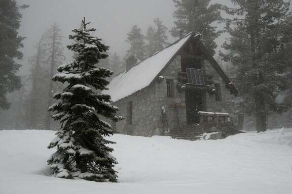 The Ostrander Hut provides the destination of a 10-mile cross-country ski trek from Badger Pass in Yosemite National Park