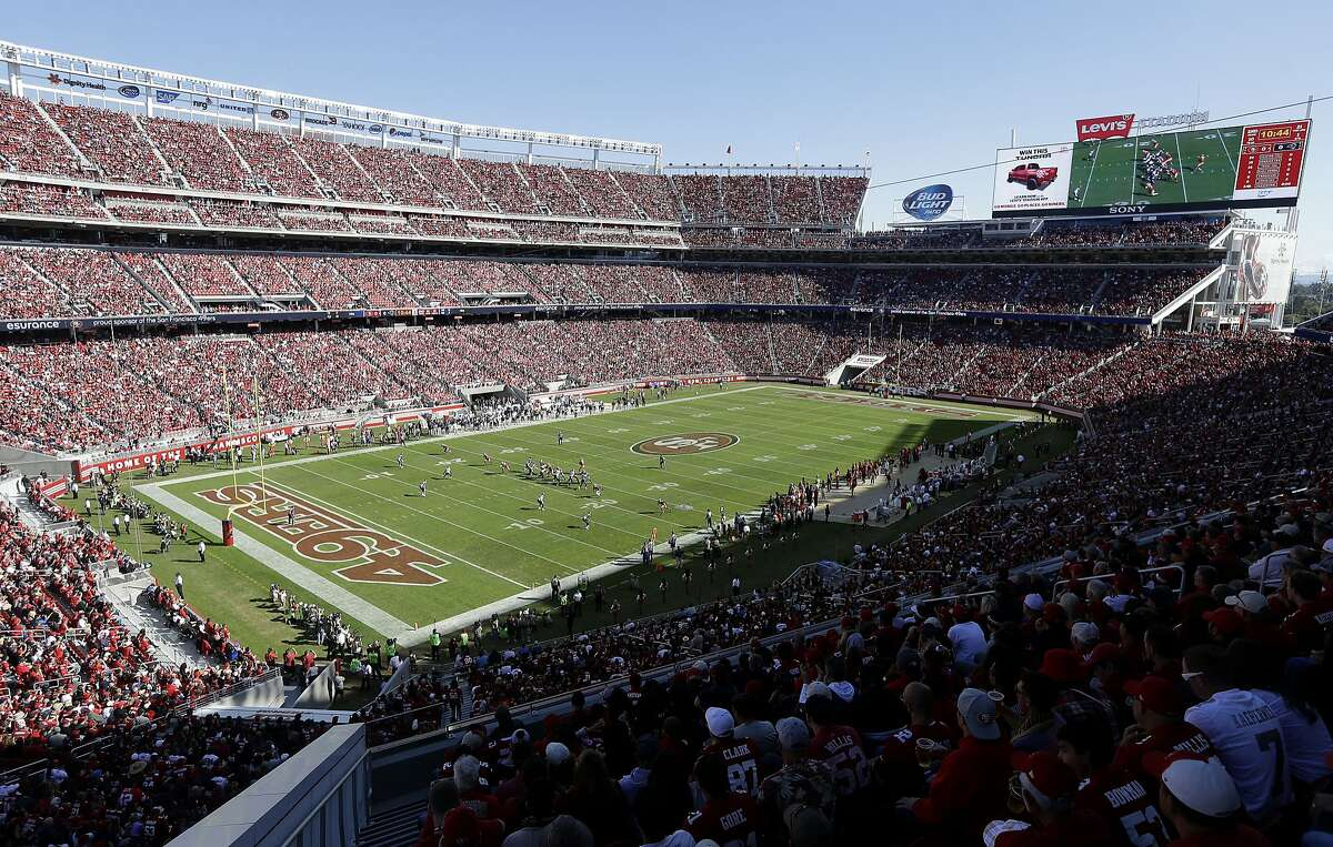 A general view of Levi's Stadium is shown during the first quarter of an NFL football game between the San Francisco 49ers and the St. Louis Rams in Santa Clara, Calif., Sunday, Nov. 2, 2014.