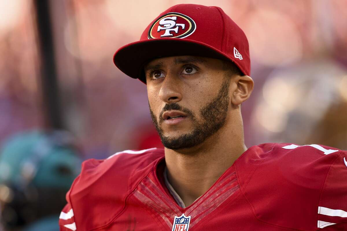 SANTA CLARA, CA - NOVEMBER 02: Colin Kaepernick #7 of the San Francisco 49ers stands on the sidelines during the third quarter against the St. Louis Rams at Levi's Stadium on November 2, 2014 in Santa Clara, California. (Photo by Thearon W. Henderson/Getty Images)