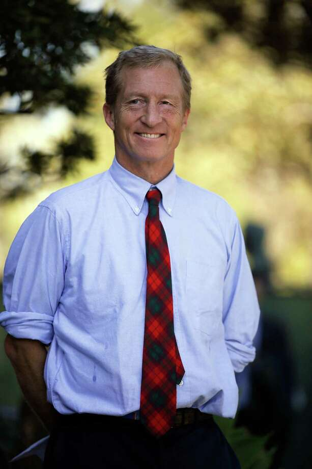 Tom Steyer in Los Angeles this month. Photo: Damian Dovarganes / Damian Dovarganes / Associated Press / AP