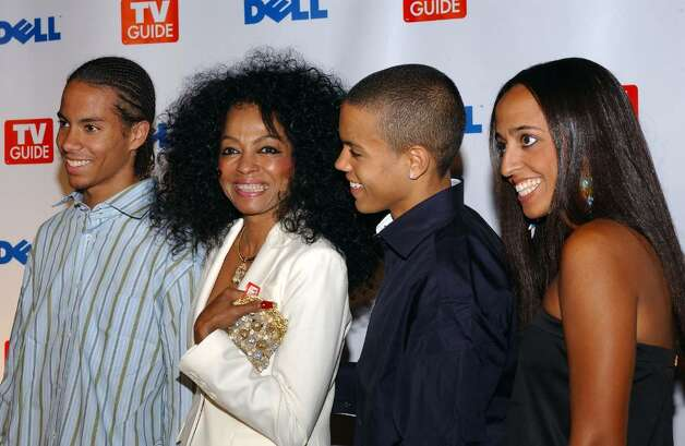 "WEST HOLLYWOOD, CA - SEPTEMBER 19:  Singer Diana Ross and her family arrive at TV Guide's Second Annual Emmy After Party on September 19, 2004 at ""TV Guide Central"" in West Hollywood, California. A highlight of the party was a special performance by rockers Velvet Revolver.  (Photo by Amanda Edwards/Getty Images) Photo: Amanda Edwards, Getty Images / 2004 Getty Images"