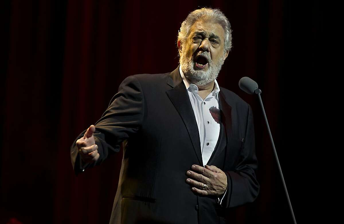 Spanish tenor and conductor Placido Domingo sings during a concert in the Ziggodome in Amsterdam, The Netherlands, on June 13, 2013. AFP PHOTO / ANP / PAUL BERGEN --NETHERLANDS OUT--PAUL BERGEN/AFP/Getty Images
