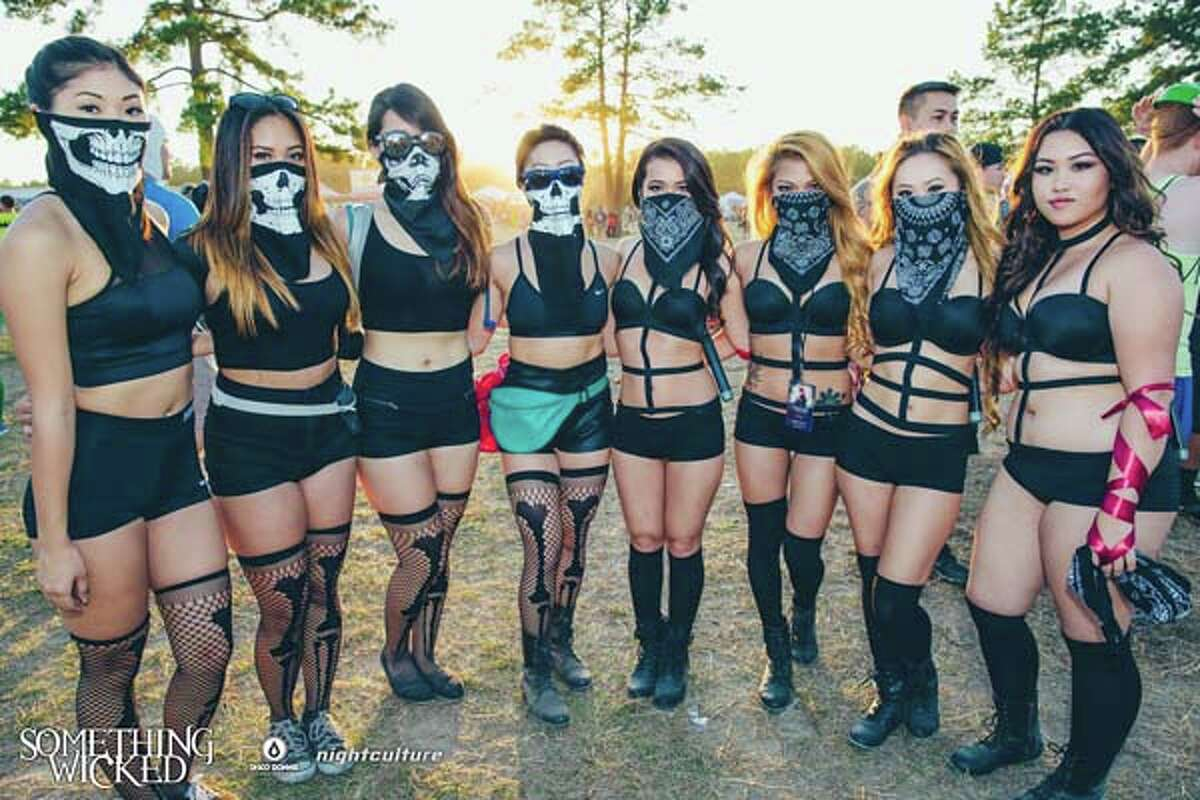 EDM fans attend the Something Wicked Festival at the Sam Houston Race Park.