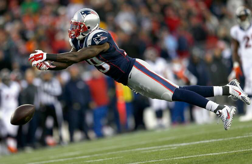 Brandon lafell 19 of the new england patriots attempts to catch a
