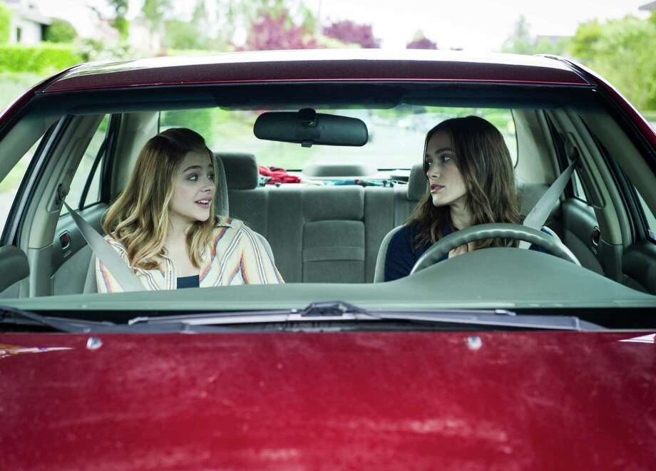 """In this image released by A24 Films, Chloe Grace Moretz, left, and Keira Knightley  appear in a scene from """"Laggies."""" (AP Photo/A24) Photo: Barbara Kinney, Associated Press / A24"""
