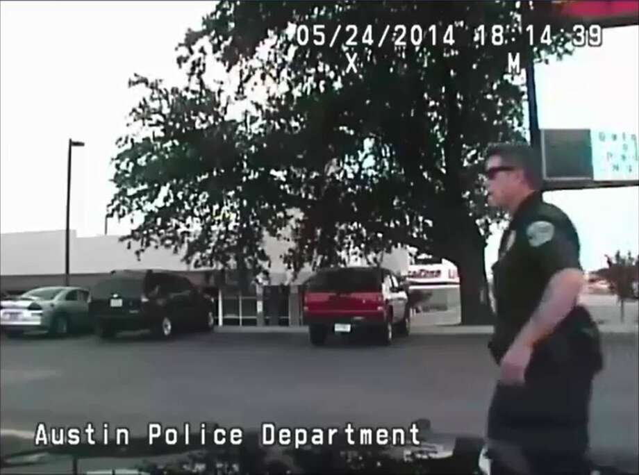 """The Austin Police Department has apologized after a video posted to YouTube showed two of its officers making rape jokes while in a patrol car. The May 24 video, posted on Oct. 30 by Austin lawyer Drew Gibbs, who told Austin TV station KXAN he obtained the footage via an open records request. In the dashcam video, officers are heard saying that if they """"ride out for a week, crime is gonna be on the run and (expletive) non-existent. (Expletive) would get real for the bad guys. The world would be at peace for a week."""" One officer then says, """"Look at the girl over there,"""" before blowing a whistle. The second officer is heard saying, """"Go ahead and call the cops. They can't unrape you."""" Photo: Fechter, Joshua I, YouTube"""