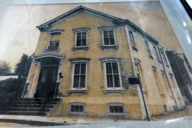 A photo of a photo of the former building that was replaced by Re4orm Architecture  in Schenectady, N.Y.      (Skip Dickstein/Times Union) Photo: SKIP DICKSTEIN / 00029124A