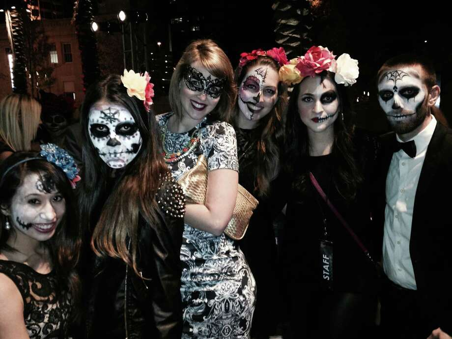 Nearly 500 fashionistas joined the Dia de los Muertos bash to kick off Fashion Week San Antonio on Saturday, Nov. 1, 2014. Photo: Michael Quintanilla/San Antonio Express-News