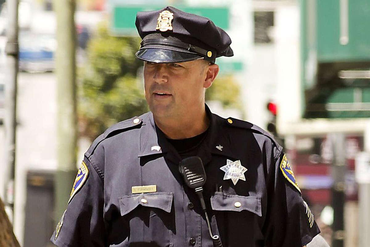 San Francisco police Sgt. Ian Furminger in the Tenderloin in 2012.