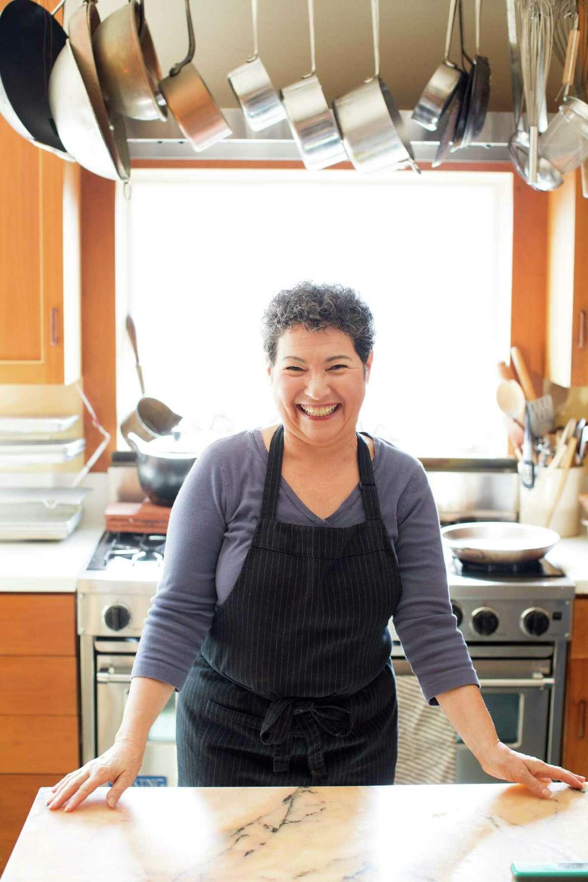 Alice Medrich in her kitchen in Berkeley.