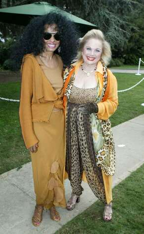 BEVERLY HILLS, CA - OCTOBER 16:  Singer Diana Ross and Carol Connors arrive at the 10th Annual Safari Brunch on October 16, 2004 at the Playboy Mansion in Beverly Hills, California. (Photo by Frazer Harrison/Getty Images) Photo: Frazer Harrison, Getty Images / 2004 Getty Images
