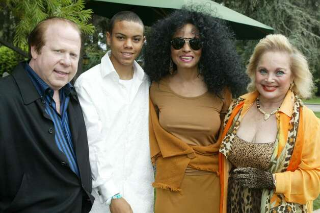 BEVERLY HILLS, CA - OCTOBER 16:  Chairman of the Wildlife Waystation board Bob Lorsch, Evan Naess, singer Diana Ross and Carol Connors arrives at the 10th Annual Safari Brunch on October 16, 2004 at the Playboy Mansion in Beverly Hills, California. (Photo by Frazer Harrison/Getty Images) Photo: Frazer Harrison, Getty Images / 2004 Getty Images